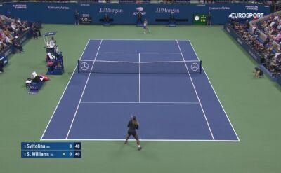 Skrót meczu Williams - Switolina w półfinale US Open