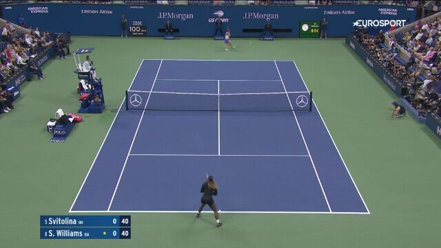 Skrót meczu Williams - Switolina w półfinale US Open