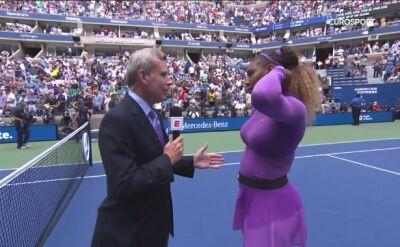 Rozmowa z Sereną Williams po zwycięstwie w 4. rundzie US Open