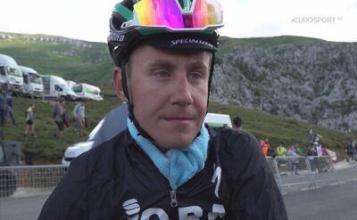 Paweł Poljański po 13. etapie Vuelta a Espana
