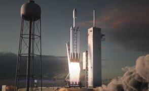 Animacja lotu rakiety Falcon Heavy firmy SpaceX