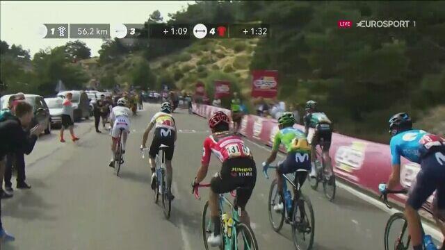 Atak Rafała Majki na 18. etapie Vuelty