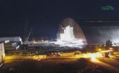 Arka nad zniszczonym reaktorem elektrowni w Czarnobylu