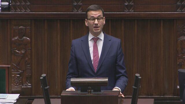 Premier Morawiecki komentuje wniosek o odwołanie Glińskiego