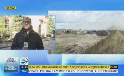 Dąbrówka Wielkopolska: przez pożar na wysypisku zamknięto szkołę