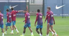 Trening FC Barcelony przed meczem z Cadiz
