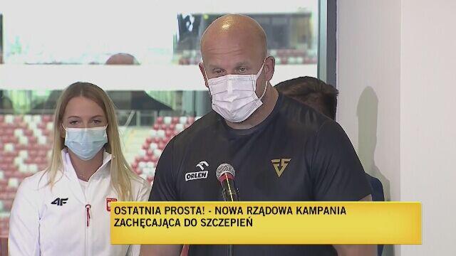 Piotr Małachowski dziękował za możliwość szczepienia się