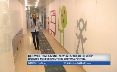 Katowice: Sprzęt od WOŚP dla Górnośląskiego Centrum Zdrowia Dziecka