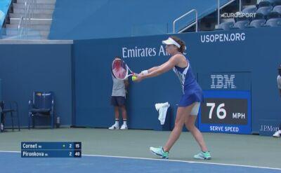 Skrót meczu Alize Cornet - Cwetana Pironkowa w 4. rundzie US Open