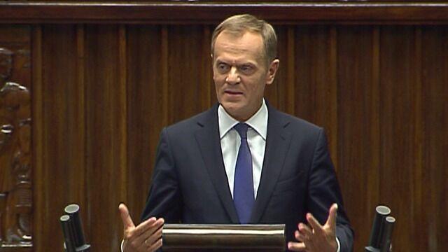Tusk: kryzys polityczny wywołany jest przez przestępstwo