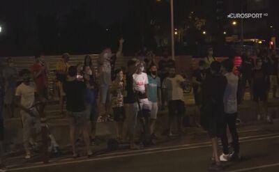 Protesty pod siedzibą FC Barcelona