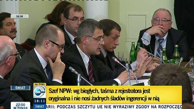 Prokuratorzy w Sejmie: Niektóre urządzenia wykryły cząsteczki trotylu