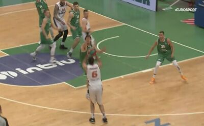 Skrót meczu Stelmet Zielona Góra - Parma Perm w Lidze VTB