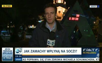 Reporter TVN: Więcej patroli na ulicach Soczi