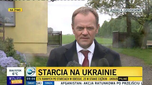 Tusk o Ukrainie: mamy do czynienia  z wojną, choć bez wypowiedzenia