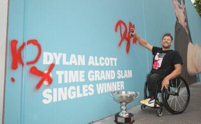 Dylan Alcott triumfator 10 turniejów Wielkiego Szlema