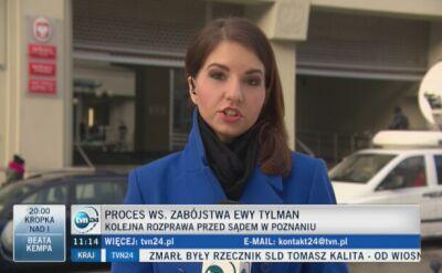 Druga rozprawa w sprawie zabójstwa Ewy Tylman