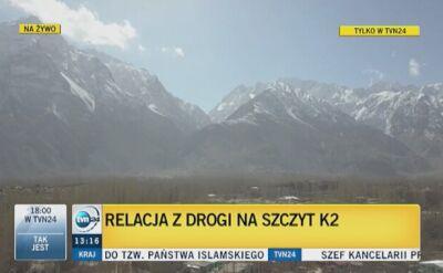 """Ekipa """"Faktów"""" w drodze na K2"""