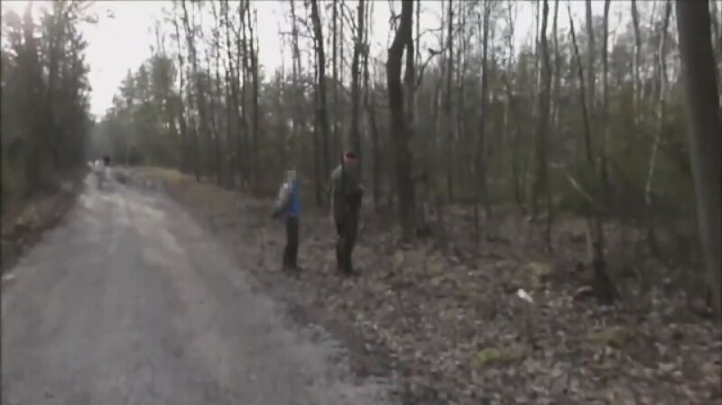 Blokowanie polowania 6 stycznia, Las Watraszewski między Górą Kalwarią a Warką