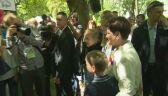 Najmłodsi w ogrodach Kancelarii Premiera