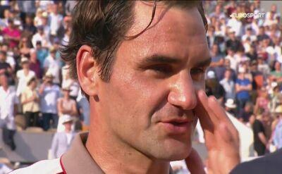 Federer po awansie do półfinału Roland Garros