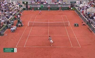 Skrót meczu Wawrinka - Federer w ćwierćfinale Roland Garros