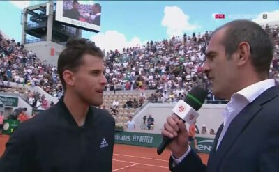 Thiem po awansie do półfinału Roland Garros