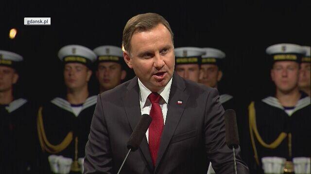 Czwarta część wystąpienia Andrzeja Dudy na Westerplatte