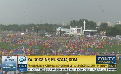 Coraz więcej pielgrzymów na krakowskich Błoniach
