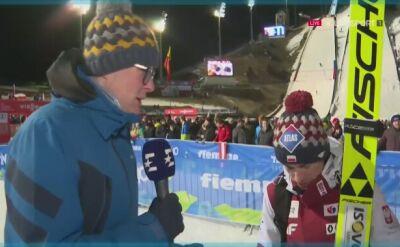 Rozmowa z Kamilem Stochem po sobotnim konkursie w Predazzo
