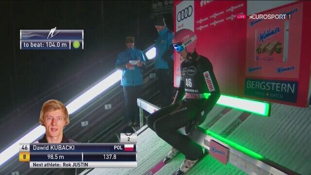 Dawid Kubacki trzeci w sobotę w Predazzo