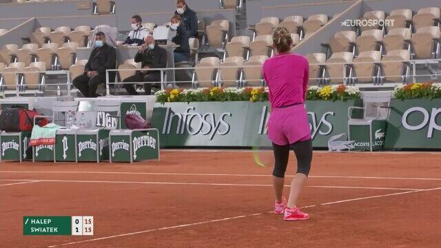 Skrót meczu 4. rundy French Open: Simona Halep - Iga Świątek