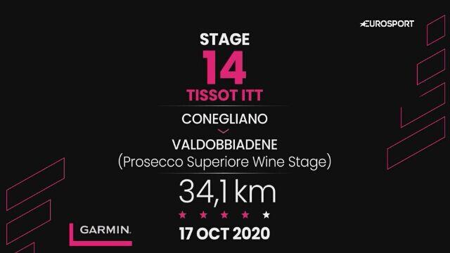 Giro d'Italia - profil 14. etapu: Conegliano - Valdobbiadene