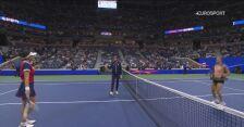 Skrót meczu Sakkari - Andreescu w 4. rundzie US Open
