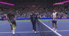 Skrót meczu Auger-Aliassime - Alcaraz w ćwierćfinale US Open