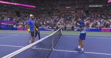 Skrót meczu Djoković - Berrettini w ćwierćfinale US Open