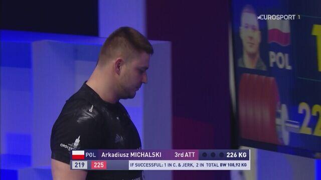 ME sztangistów: nieudany atak Michalskiego na 226 kg w podrzucie