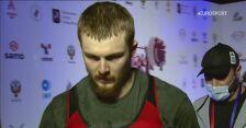 Anton Pliesnoi ze złotym medalem ME w rwaniu do 96 kg