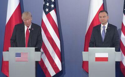 Całe wystąpienie Trumpa na Zamku Królewskim