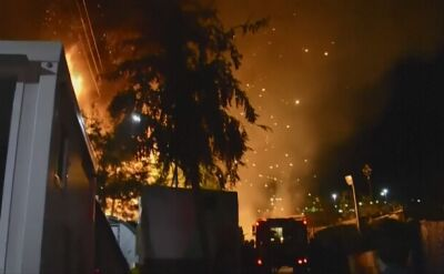 Płonął kolejny przeludniony ośrodek dla uchodźców w Grecji