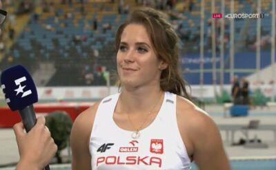 Maria Andrejczyk po drużynowych ME