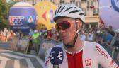 Alan Banaszek po ostatnim etapie Tour de Pologne