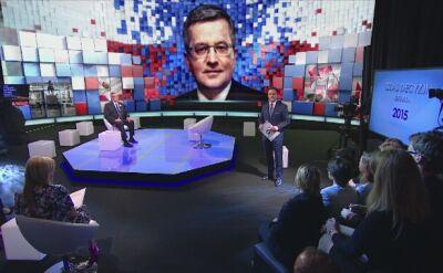 """""""Debata. Czas Decyzji"""". Bronisław Komorowski o polityce krajowej"""