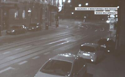 Nagranie, na którym widać moment wypadku