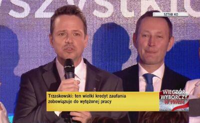 Trzaskowski: wielki kredyt zaufania zobowiązuje do wytężonej pracy