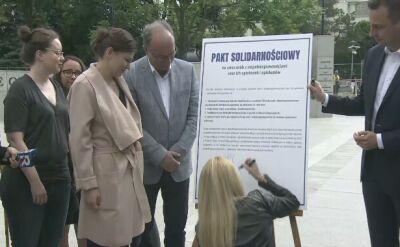Opozycja podpisała solidarnościowy