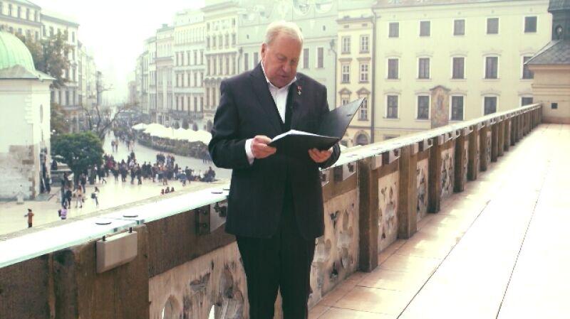 Życzenia dla Polski. Jerzy Stuhr czyta życzenia od Bohdana Drozdovskyiego