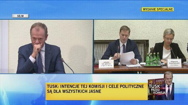 Donald Tusk przed komisją do spraw Amber Gold