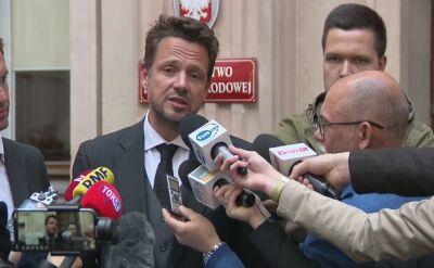 Głosowanie nad kandydaturą Beaty Szydło skomentował na konferencji prasowej Rafał Trzaskowski