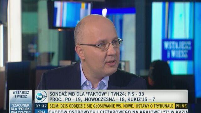 """Robert Kropiwnicki (PO) był gościem """"Wstajesz i wiesz"""" w TVN24"""